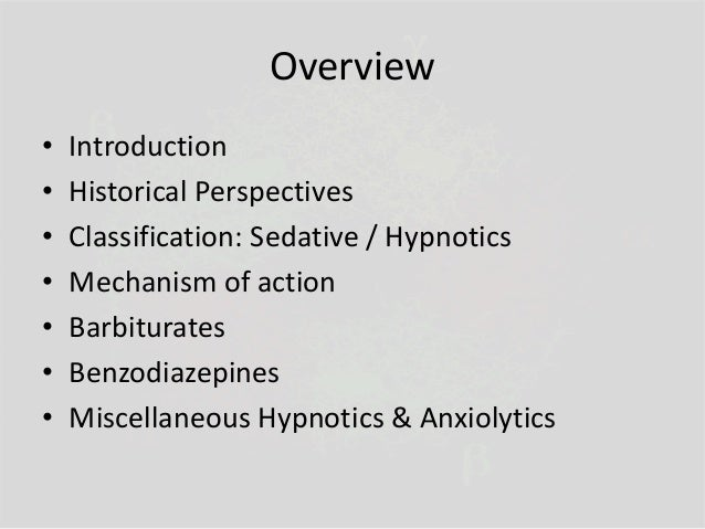 Sedative Hypnotic