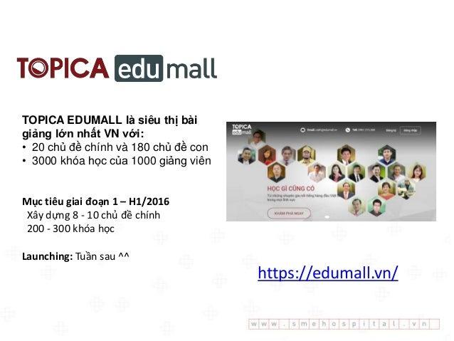 TOPICA EDUMALL là siêu thị bài giảng lớn nhất VN với: • 20 chủ đề chính và 180 chủ đề con • 3000 khóa học của 1000 giảng v...
