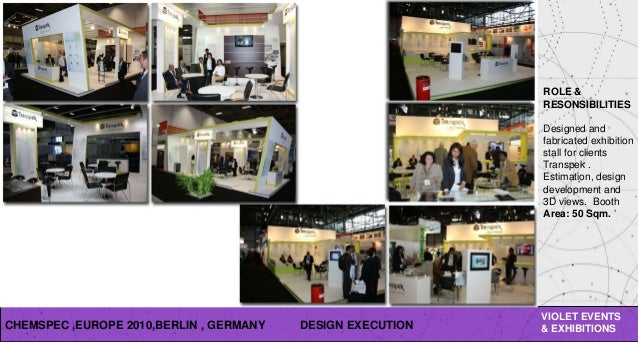 EVENTS EXHIBITIONS 42 CHEMSPEC EUROPE
