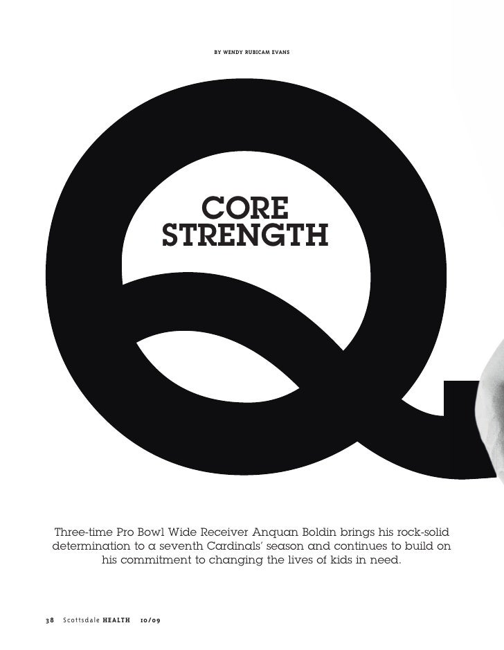 BY WENDY RUBICAM EVANS                                        CORE                                  STRENGTH      Three-ti...