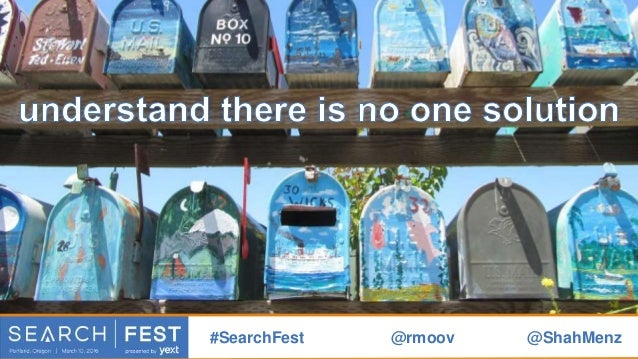 but millions of tiny solutions #SearchFest @rmoov @ShahMenz