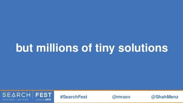 #SearchFest @rmoov @ShahMenz