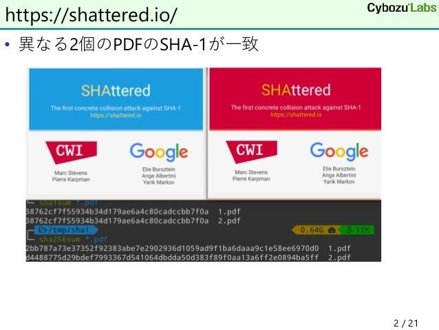 GoogleのSHA-1のはなし Slide 2