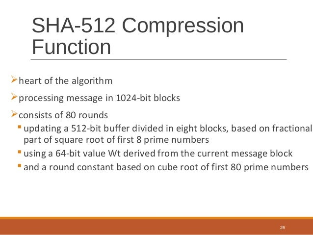 Cryptography and network security - Sha512
