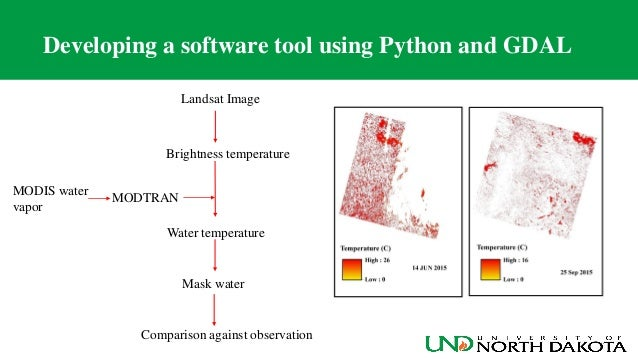 NDGISUC2017 - Estimate Water Surface Temperature from the