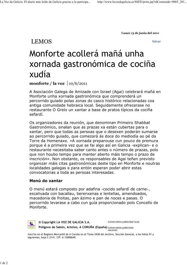 Shabat Monforte Voz de Galicia
