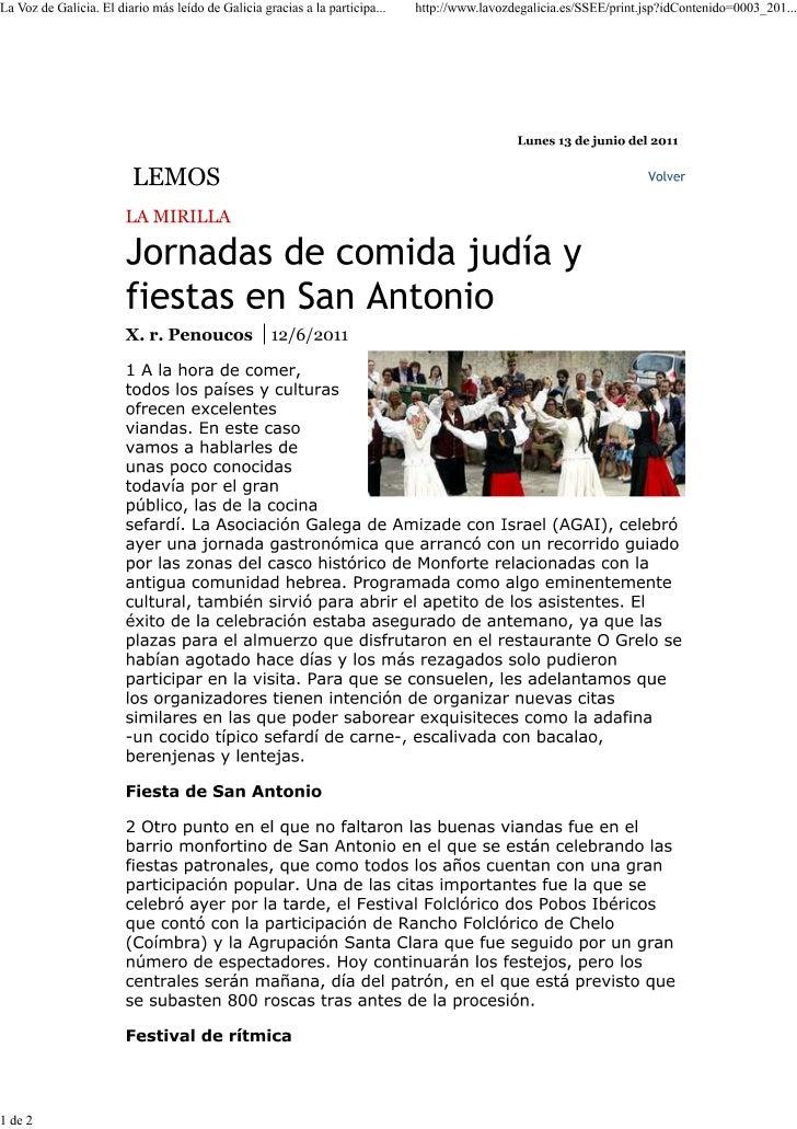 Shabat Monforte La Voz de Galicia 2