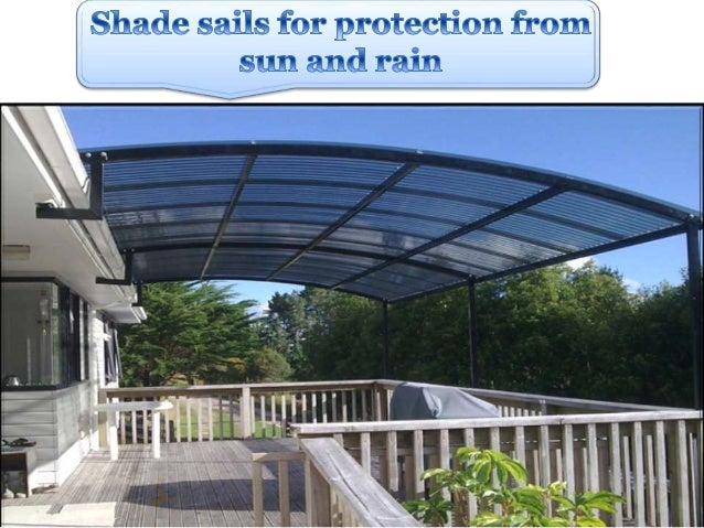 Shade Sails For Protection From Sun And Rain