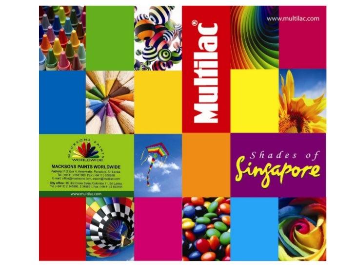 Shades of singapore colour card