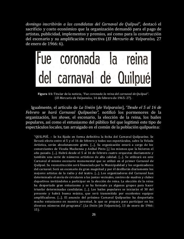 """26 domingo inscribirán a las candidatas del Carnaval de Quilpué"""", destacó el sacrificio y costo económico que la organizac..."""