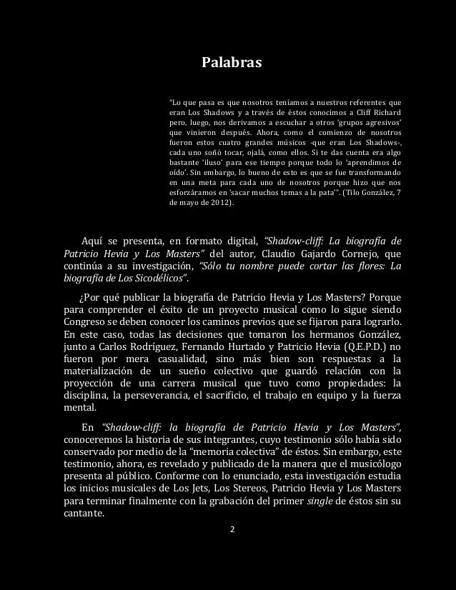 Shadow-cliff: La biografía de Patricio Hevia y Los Masters Slide 3