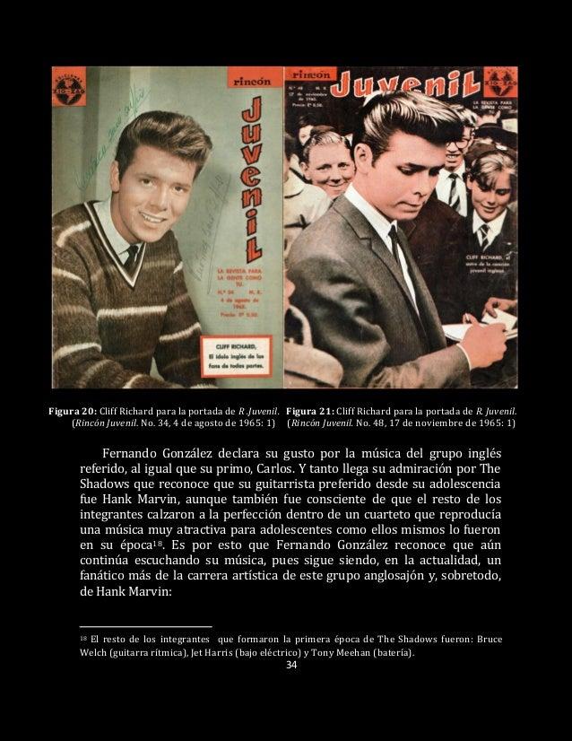 34 Figura 20: Cliff Richard para la portada de R .Juvenil. Figura 21: Cliff Richard para la portada de R. Juvenil. (Rincón...