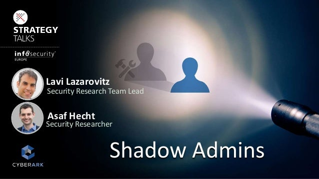 Lavi Lazarovitz Security Research Team Lead Asaf Hecht Security Researcher Shadow Admins