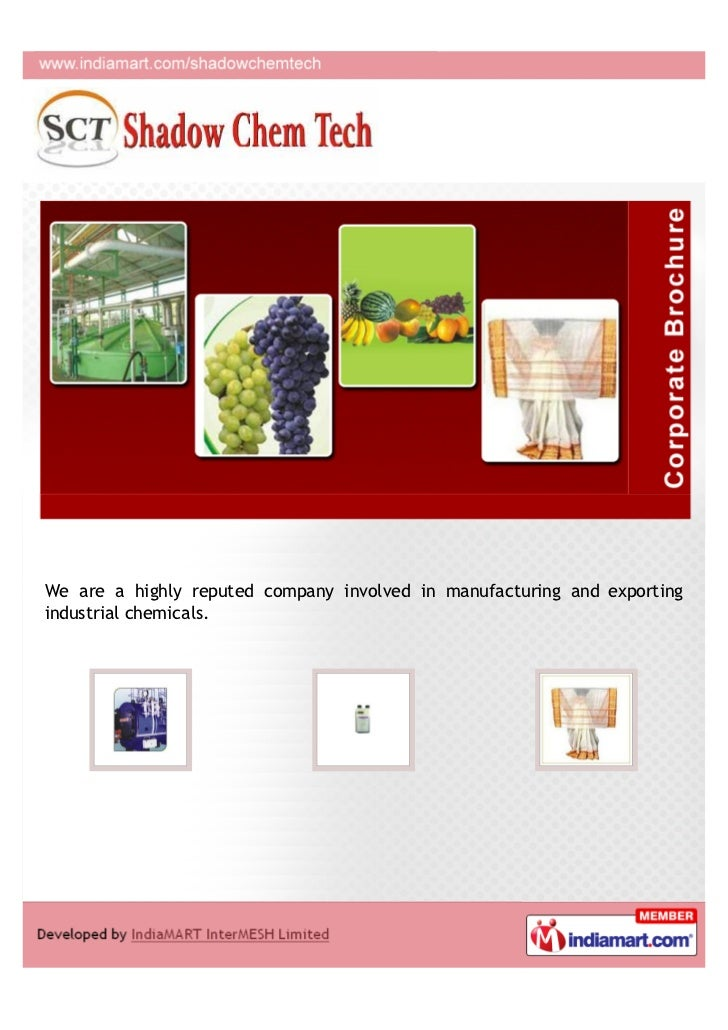 We are a highly reputed company involved in manufacturing and exportingindustrial chemicals.