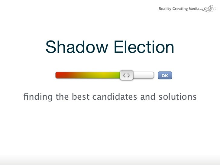 Shadow Electionfinding the best candidates and solutions