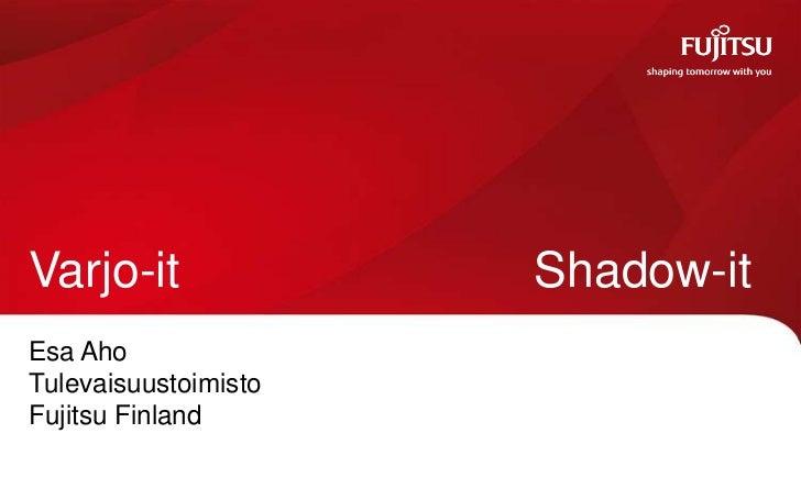 Varjo-it              Shadow-itEsa AhoTulevaisuustoimistoFujitsu Finland