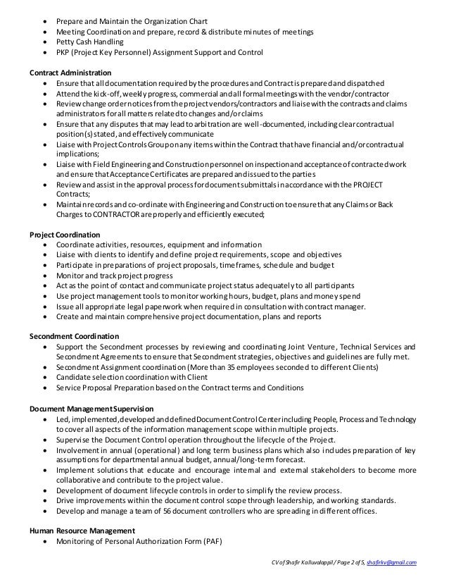 resume for group leader position resume for project management
