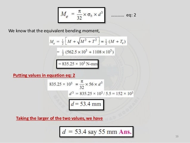 shaft subjected to bending moment only 2