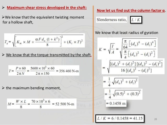 Shaft subjected to bending moment only (2)