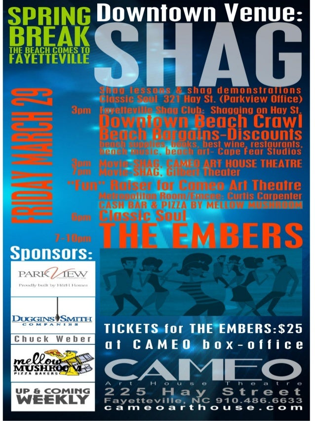 """Shag"" 29 March Downtown Fayetteville"