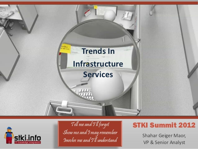 Trends In     Infrastructure        Services    Tell me and I'll forget      STKI Summit 2012Show me and I may remember   ...