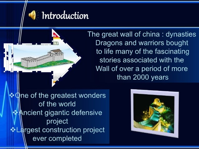 An introduction to the history of the great wall of china