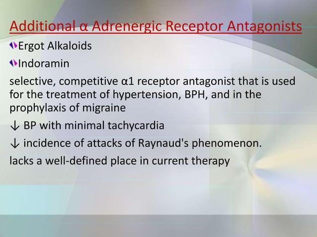 β antagonists can be distinguished by the following properties: Relative affinity for β1 and β2 receptors Intrinsic sympat...