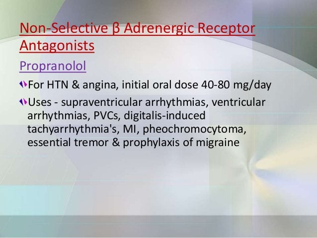 Acebutalol Have lipophilic properties Used for HTN, arrhythmias, MI, Smith Magenis syndrome Bisoprolol Higher β1 selectivi...