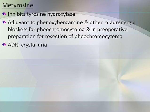 Central sympatholytics α Methyldopa MOA: Converted to α methyl NE which acts on α2 receptors in brain & causes inhibition ...
