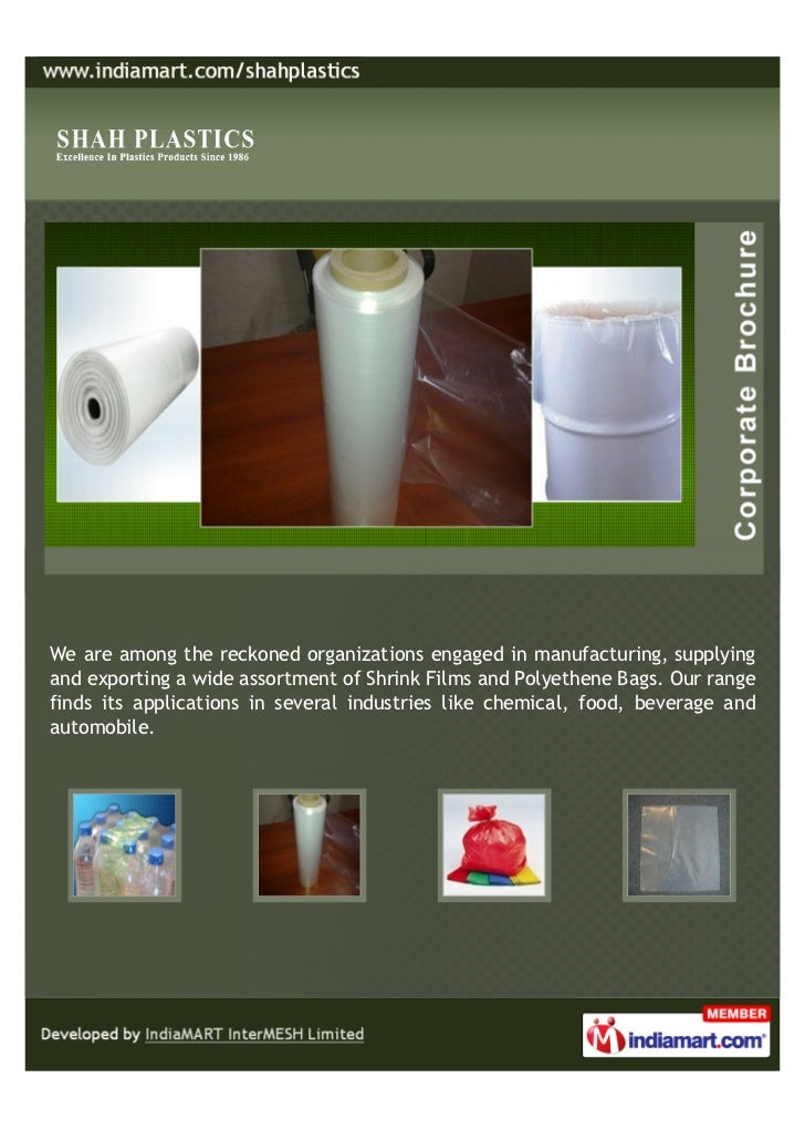 We are among the reckoned organizations engaged in manufacturing, supplyingand exporting a wide assortment of Shrink Films...