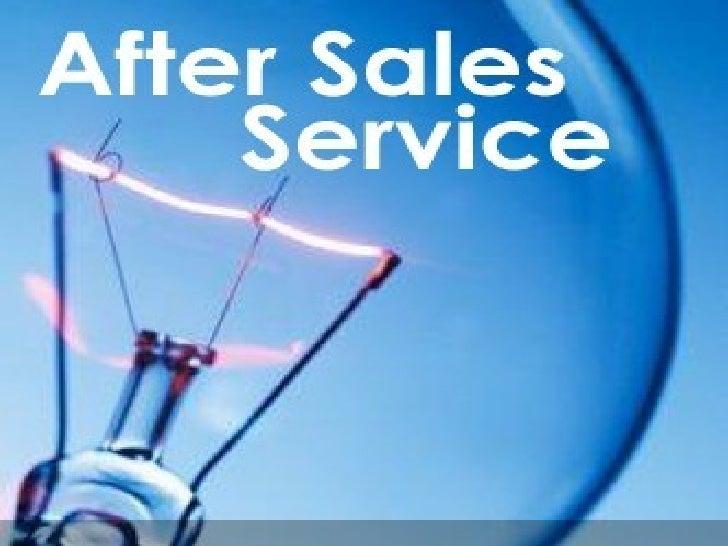 After sales service Slide 1