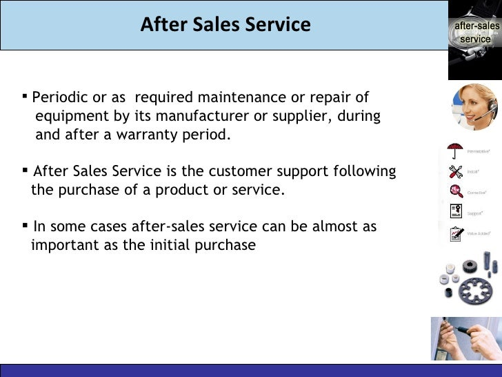 after sales service strategy Our service strategy has been completely revised to meet the high expectations  of our customers eurodifroid service relies on: constitution and training of a.