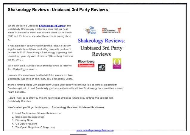 Shakeology Reviews: Unbiased 3rd Party Reviews  Where are all the Unbiased Shakeology Reviews? The Beachbody Shakeology sh...