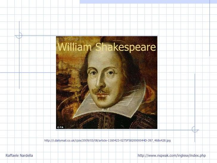 William Shakespeare Raffaele Nardella http://www.nspeak.com/inglese/index.php http://i.dailymail.co.uk/i/pix/2009/03/08/ar...