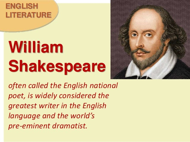 a biography of william shakespeare an english writer A list of interesting facts about the most famous poet and playwright of all time - william shakespeare from stratford upon avon, england.