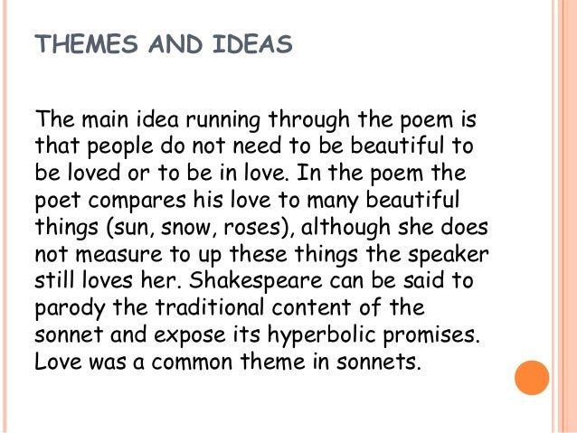 what is the tone of sonnet 130