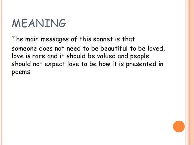 Shakespeare sonnet 130 summary