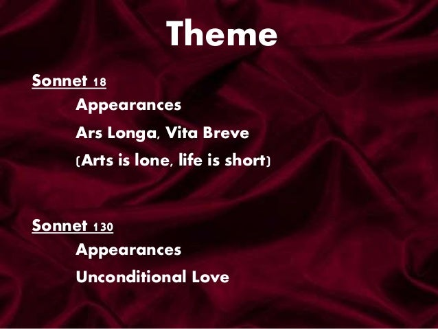 sonnet 18 theme and tone