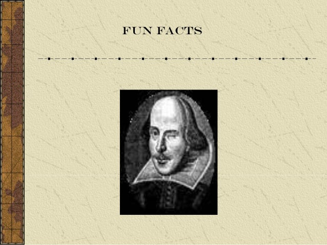 Shakespeare Background Info