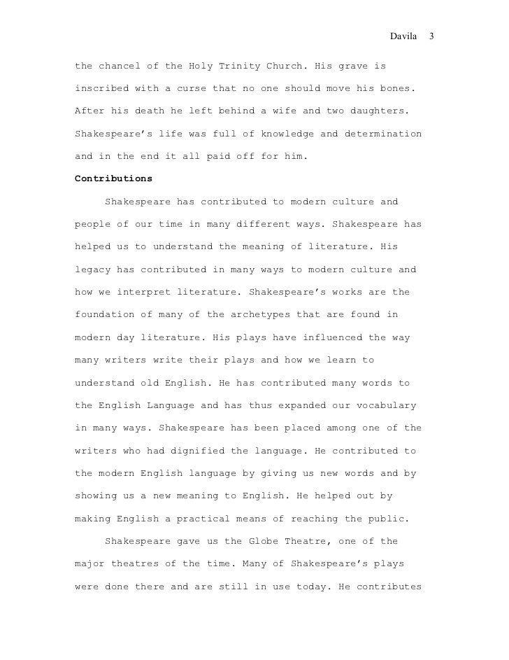 Order academic essay on shakespeare Domov MOST nezavisnih lista