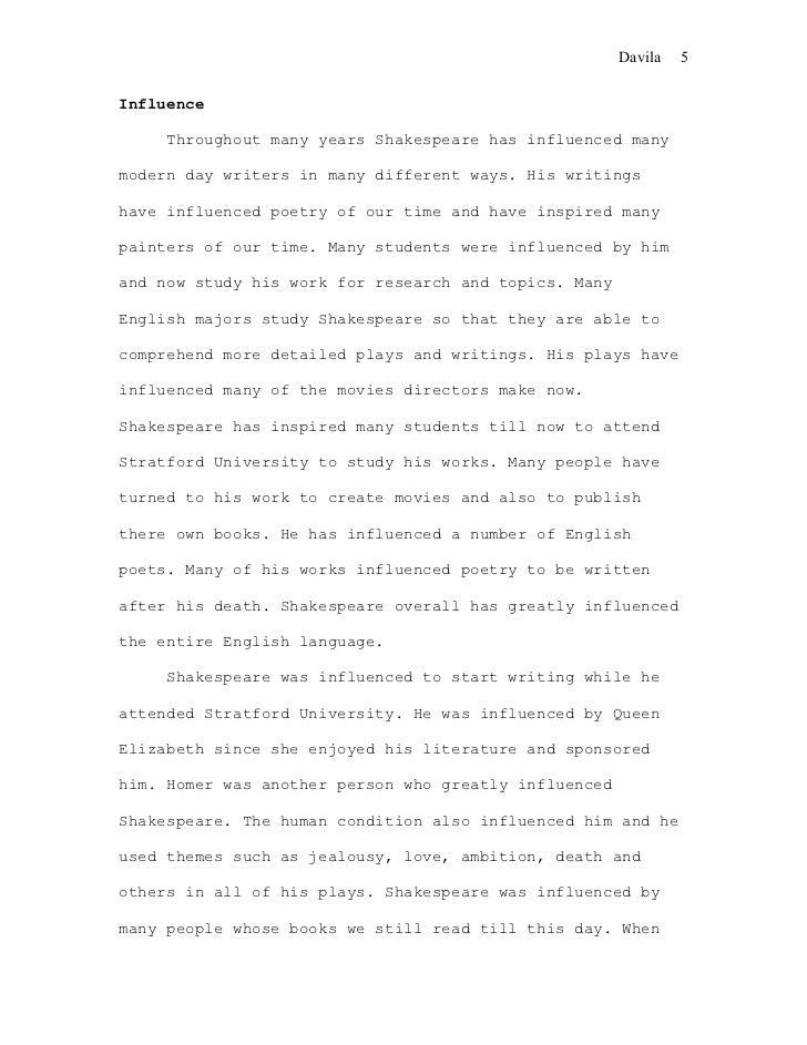 shakespeare thesis topics