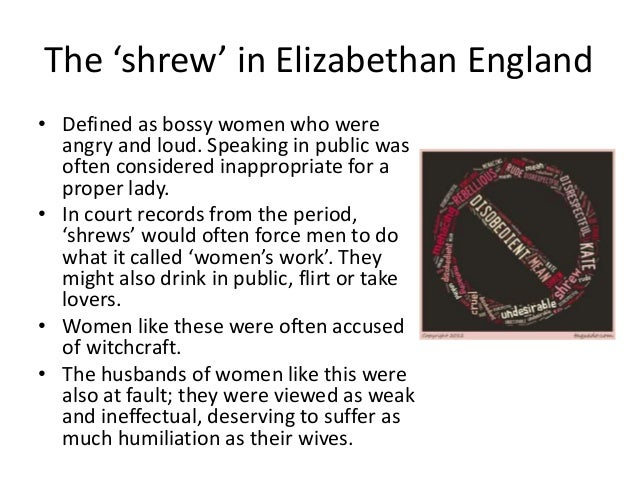 Explain the different roles of men and women in The Taming of the Shrew?