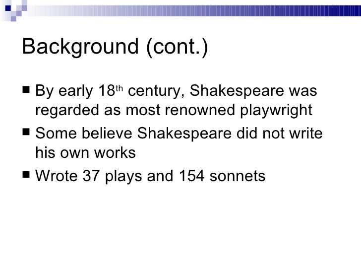 shakespeares presentation of macbeth Toward the start of the play shakespeare presents macbeth to be overcome and courageous after macbeth wins the battle, malcolm alludes to him as an.