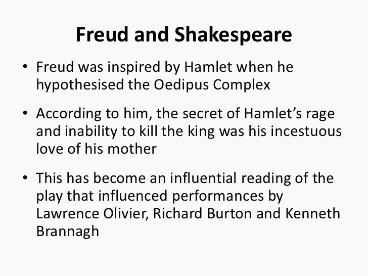 the oedipal complex in hamlet Of all theories of relationships, sigmund freud's oedipal complex has probably caused the most controversy it began with the study of a boy known as little hans.