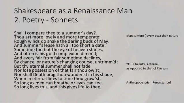 Shakespeare renaissanc...