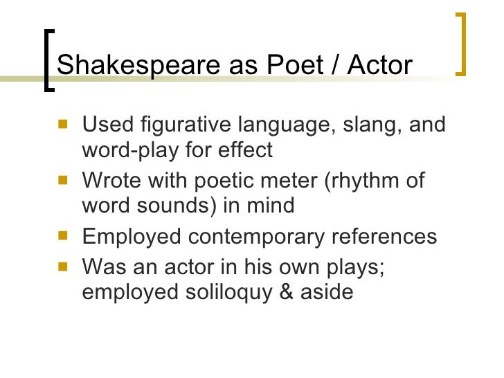 Figurative language in shakespeare