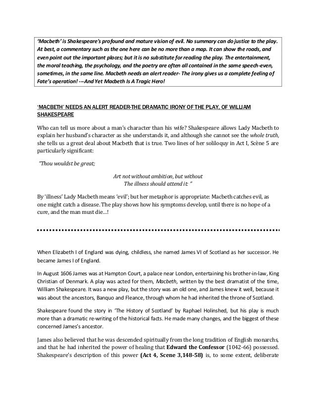 soliloquies in macbeth pdf