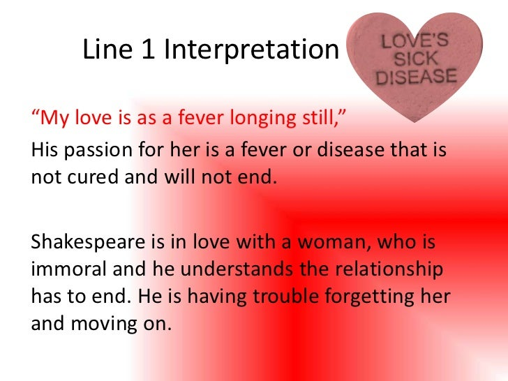 love is a disease an explication of sonnet 147 essay