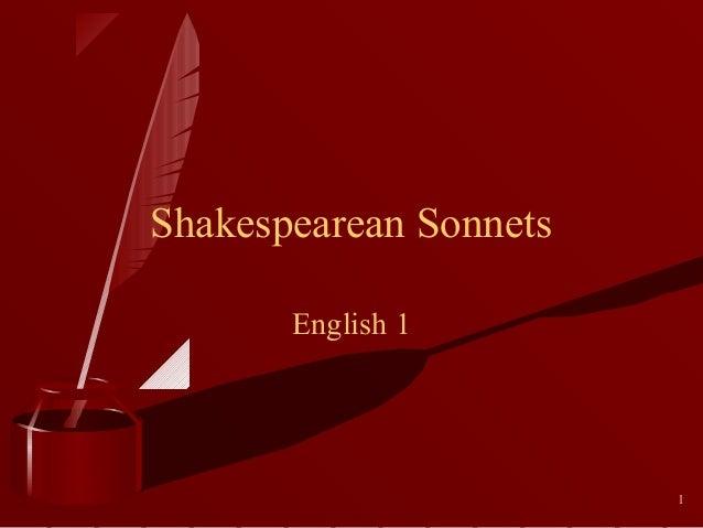 Shakespearean Sonnets English 1  1