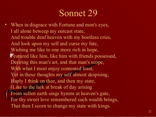 shakespeare s sonnets essay example